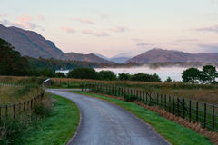 Serene Irish landscape. Countryside view in Killarney National Park Stock Image