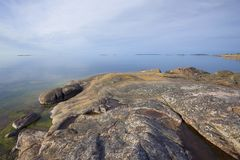 A serene June morning on the rocks of the peninsula of Hanko. Finland. A serene June morning on the rocks of the peninsula of Hanko, Finland Royalty Free Stock Photos