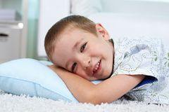 Serene lad Stock Images