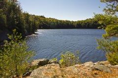 Serene lake. Canoe lake in Massasauga Park Ontario Royalty Free Stock Image