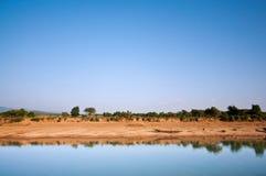 Serene lake. Tranquil view of 'Lalakhal' lake Royalty Free Stock Photos