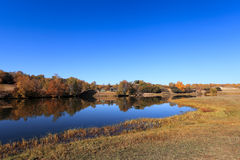 Serene lake in autumn Royalty Free Stock Photography