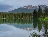 Serene lake in Jasper. Canada Stock Image