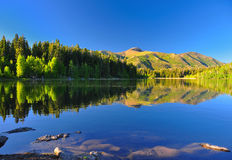 Serene lake Payton in Utah. Stock Photos