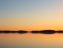 Serene lake view at dusk Stock Image