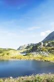 Serene Landscape of Mountain Lake in Carpathian Mountains Stock Image