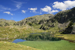 Serene landscape in the Pyrenees Royalty Free Stock Photos