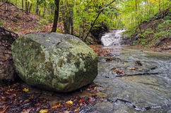 Serene Landscape with Stream Royalty Free Stock Photo