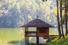 Serene lodging house at Pang Ung Royalty Free Stock Image