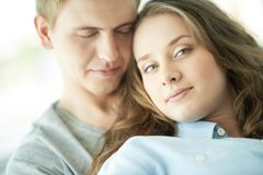 Serene lovers Royalty Free Stock Image