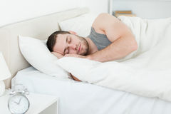 Serene man sleeping Stock Image