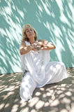 Serene Mature Woman Royalty Free Stock Images