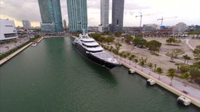 Serene Megayacht stock footage