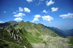 Serene mountain landscape - Fagaras, Romania Royalty Free Stock Photos
