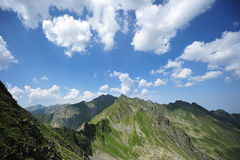 Serene mountain landscape - Fagaras, Romania stock images