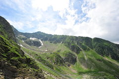 Serene mountain landscape (Romanian Carpathians) Royalty Free Stock Photos