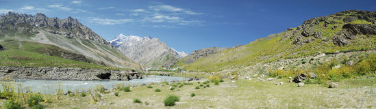 Serene. Mountain and valley in kashmir Stock Images