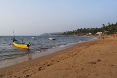 Serene Palolim Beach South Goa fotos de stock royalty free