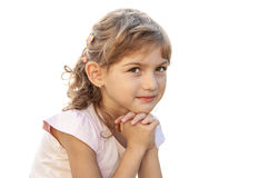 Serene person child girl purity portrait Royalty Free Stock Image