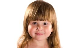 Serene portrait of little girl Stock Photos