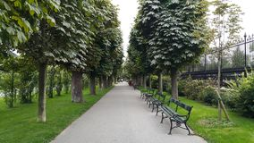 Serene public Park in Vienna, Austria Royalty Free Stock Images