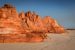 Serene Red Cliffs dans l'Australie occidentale Photos stock