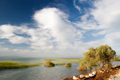 Serene river lake. Shot in turkey, konya, beysehir lake Royalty Free Stock Images