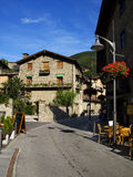 Serene Rural Street. Street in Ordino, Andorra. A really nice place to enjoy nature activities Stock Photo
