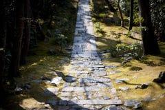 Serene Ryan-Ji path in Japan Stock Images