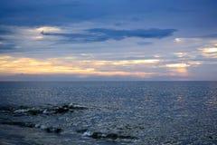 Serene and Scenic Summer Seashore Sunrise Royalty Free Stock Photos