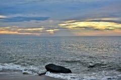 Serene and Scenic Summer Seashore Sunrise Stock Image