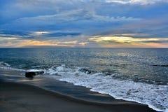 Serene and Scenic Summer Seashore Sunrise Stock Photos