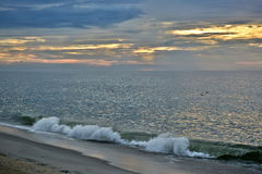 Serene and Scenic Summer Seashore Sunrise Royalty Free Stock Photography
