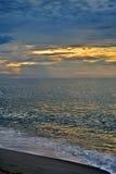 Serene and Scenic Summer Seashore Sunrise Stock Photography