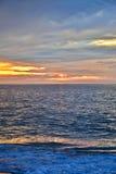 Serene and Scenic Summer Seashore Sunrise Stock Images