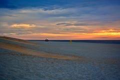 Serene and Scenic Summer Seashore Sunrise Royalty Free Stock Images