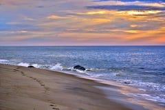 Serene and Scenic Summer Seashore Sunrise Royalty Free Stock Image