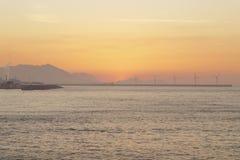 Serene seascape in Arrigunaga beach, Biscay, Basque Country, Spa Royalty Free Stock Photos