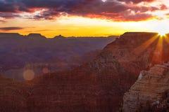Serene Sunrise en Grand Canyon foto de archivo libre de regalías