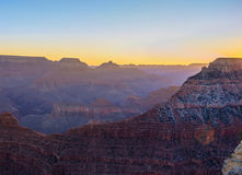 Serene Sunrise in Grand Canyon Stock Afbeeldingen
