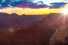 Serene Sunrise a Grand Canyon Immagine Stock