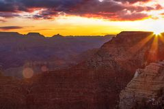 Serene Sunrise at Grand Canyon. Inspiring Image of the Grand Canyon during Sunrise royalty free stock photo