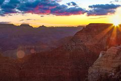 Serene Sunrise at Grand Canyon. Inspiring Image of the Grand Canyon during Sunrise stock photos