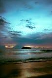 Serene sunset. A beautiful turquoise sunset over Koh Phu looking from Kata Beach, Phuket, Thailand Stock Photos