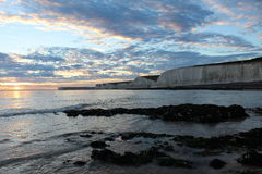 Serene Sunset. Sunset @ Birling Gap, Nr Eastbourne, East Sussex royalty free stock images