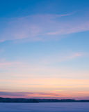Serene sunset sky at winter Stock Image