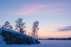 Serene sunset sky at winter Royalty Free Stock Photography
