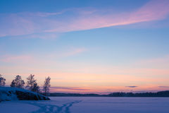 Serene sunset sky at winter Stock Photography