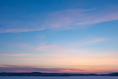Serene sunset sky at winter Royalty Free Stock Images