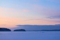 Serene sunset sky at winter Stock Photography